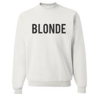 Brunette brand Blonde spell out crewneck sweater